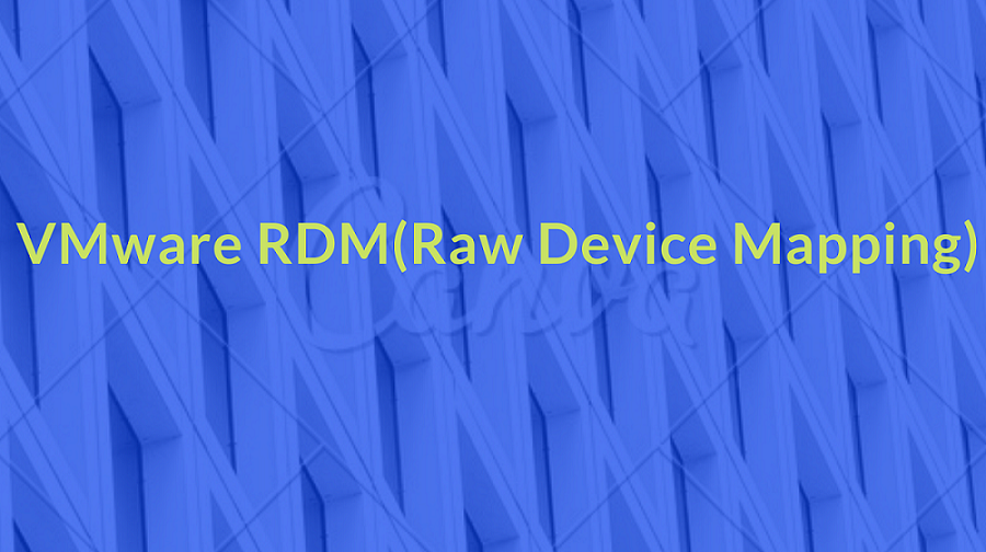 VMware RDM(Raw Device Mapping)