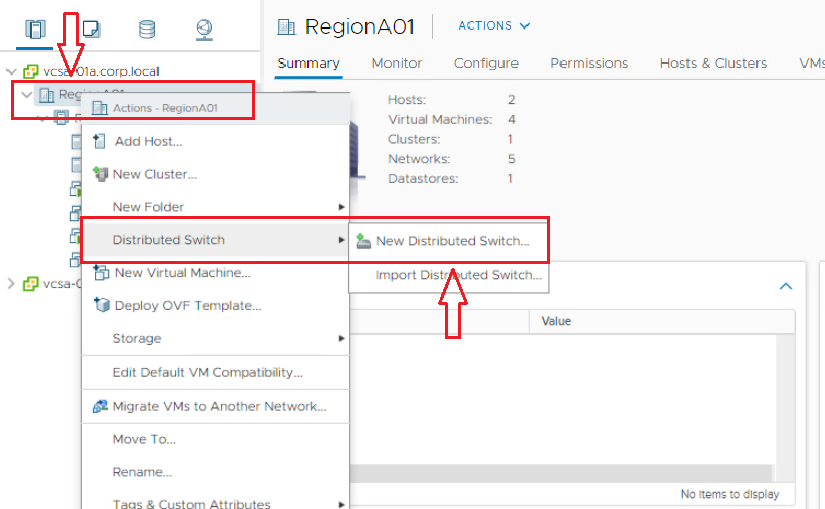 1. Right Click On Datacenter and Click on New Distributed Switch