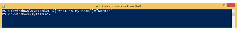 Assigning values to powershell variables