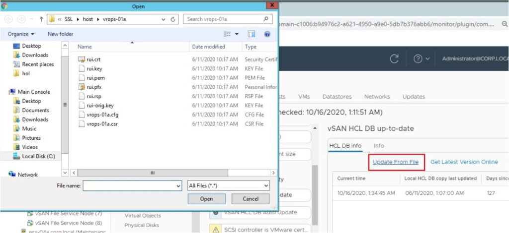 Update vSAN HCL DB From A JSON File