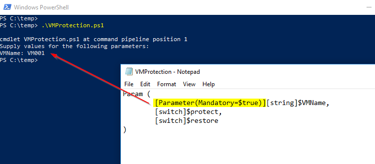 powershell parameters