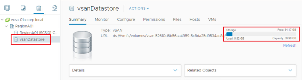 what is vsan datastore?