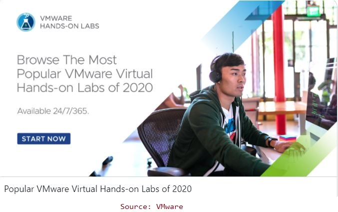 Most Popular VMware Virtual Hands-On Labs Of 2020