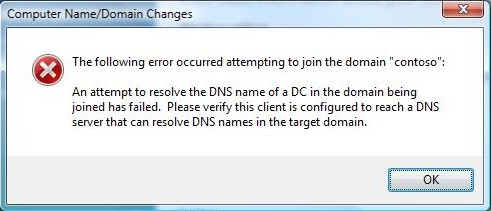 An attempt to resolve the DNS name